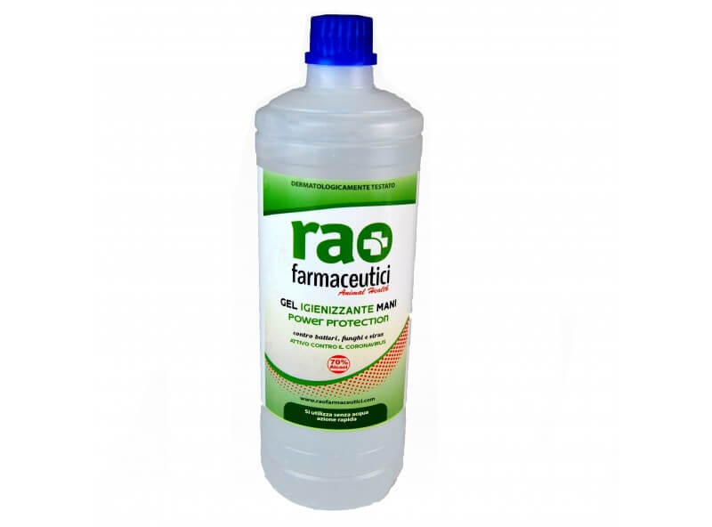 gel igienizzante mani power protection rao farmaceutici 1 l